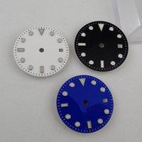 Reparaturwerkzeuge Kits Automatische NOGO 28.5mm schwarz / blau / weiß Uhrendial Handsatz Fit NH35A NH36A ETA 2836 Miyota 8215 Uhrwerk