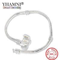 Luxusdesigner Fine Schmuck Original 925 Massiv Silber Charme Armbänder mit S925 Stempel Schlange Knochen Armband Armreifen DIY Für Frauen + SZ-005