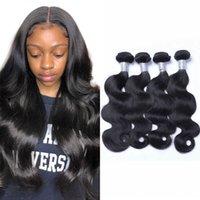 حزم موجة الجسم البرازيلي العذراء الشعر حزم اللون الطبيعي 100٪ نسج الشعر البشري 3/4 قطع للأفريقيا المرأة الأمريكية