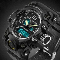 G 스타일 Sanda 스포츠 남자 시계 탑 브랜드 럭셔리 군사 충격 저항 LED 디지털 시계 남성 시계 Relogio Masculino 742 210910