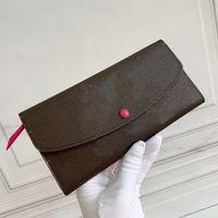 Pratical Elegante Virrant Long Lady Cover Cover Color Stud Portafoglio rivestito Tela Colorata in pelle colorata Lining Interno zip Pocket Taskers