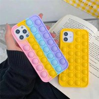 Among us Soft TPU Festives Case For Iphone 11 12 Pro Max X XR XS Cover Reliver Stress Pop Bubble ForIphone6 6s 7 8 Plus Rainbow Phone Cases