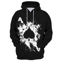 Men's Hoodies & Sweatshirts Poker Graphic 3D Printed Hoodie Sweatshirt Spring Autumn Unisex Streetwear Pullover Casual Jacket Tracksuits Men