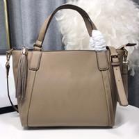 Classic Lady Tote Bag Genuine Leather Women Handbags Purse Fashion Letter Hand Bags Tassel Adjustable belt Shoulder Bag Top Quality Shop Bag