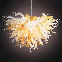 핸드 블로우 샹들리에 조명 거실 침실 에너지 절약 램프 사용자 정의 미국 빛 그물 여러 가지 빛깔의 램프 노르딕 홈 장식