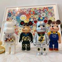 Najnowsze 400% Building Block Przemoc Japonia Lucky Cat Ręcznie robiony Lalka Toy Model Art Grafika 28cm