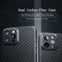Case For iphone 11 12 Pro Max Mini Matte Black Phone Cover 100% Real Carbon Fiber Compatible MagSafe Magnetic Charger