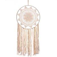 Adesivi per finestre Dream Catcher Silver Hanging Wind Chime Ornaments Fantasy Fairy Sun Flower Home Decoration