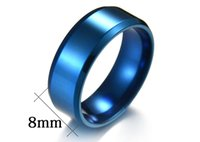 Titanium band rings ring stainless steel wholesale manufacturers 8MM mirror