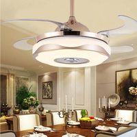 Ventilatori a soffitto Modern Nordic LED LED Ventilatore invisibile Lampada a sospensione Lampada Illuminazione Decorazione della casa Bluetooth La luce della musica per la camera da letto