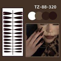 False Nails 24pcs Bag Detachable Colorful Long Stiletto Full Cover Fake Press On Nail Tips Manicure Decor With Glue