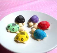 Dibujos animados lindo colorido animal tortuga forma protección ambiental protección creativo premios al por mayor animal borrador hermoso y práctico