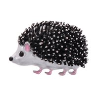 European and American accessories brooch trendy high-end personality cute cartoon dripping little hedgehog animal pin