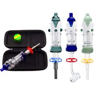 Plus Glass Water Pipe with 10mm 14mm Titanium Quartz Ceramic Nail Silicone Dabber Dab Rig Oil Rig Glass Bong