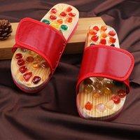 Pantofole Massaggio per la casa Scarpe da uomo e da donna Cobblestone Piedio Sole Sole Interno Terapia cinese Acupoint Assistenza sanitaria