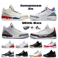 3 3S Mens Womens Jumpman Basketball Shoes legal Cinza III Varsity Royal UNC Fogo Vermelho Cimento Branco Cimento Mulheres Sneakers Treinadores Tamanho 36-47