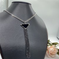 Fashion Womens Pendant Necklaces Triangle Tassel Women Luxurys Designers Necklaces Link Chain Jewelry Accessories Gifts