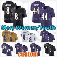 8 Lamar Jackson Football Jersey 12 Rashod Bateman 5 Marquise Brown Patrick Queen Raven Rai Lewis Marlon Humphrey Baltimores L.j. Fort Jayson Oweh Alejandro Villanueva