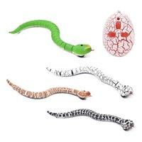 고양이 장난감 트릭 끔찍한 장난 참신 RC 뱀 적외선 원격 제어 계란 방울뱀 동물 어린이 재미 있은 선물