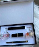 Marke Makeup Set 15ml Parfüm Lippenstifte Eyeliner Mascara 5 in 1 mit Box Lippen Kosmetik Kit für Frauen Weihnachtsgeschenk