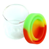 nonstick glass jars Small Empty Bottle silicone concentrate container waxoilrigs round storage containers