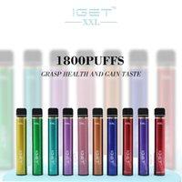 Аутентичные IGET XXL Vape Pen Electronic Cigarettes Устройство 9500mah Аккумулятор 7 мл Стручки Пустые Оригинальные Пары 1800 Заголовочные комплект Оптом