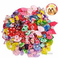 Animaux de compagnie coiffe arc bijoux coiffe de chien coiffe de chien de caoutchouc chien chien chèvre accessoires de chèvre pour animaux de compagnie chiens de fleur de chien zc099
