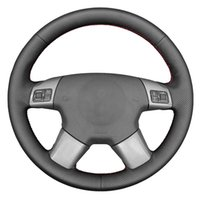 Steering Wheel Covers Black Genuine Leather Car Cover For Vectra C 2002-2005 Signum 2003-2005 Vauxhall 2004