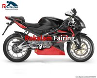 Para Aprilia RS125 2006 2007 2009 2010 2010 Faderings Protection Set Rs 125 06-11 Cáscara de carrocería negra roja (moldeo por inyección)