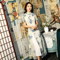 Vêtements ethniques Sheng coco Snowflake brodé Robes de cheongsam longues Longue modifiée organza Aodai Qipao moderne style oriental 4XL femmes qi pao