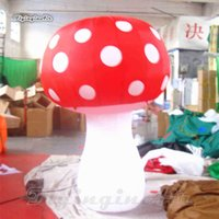 Advertising Inflatables Personalized Lighting Inflatable Replica LED Plant Model Red Blow Up Mushroom Balloon For Nightclub Party Decoration IKVX