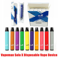 100% VAPEMAN ORIGINALE SOLO X Dispositivo di vape monouso Dispositivo di vape 850mAh Batteria da 850 mAh 1500 Puffs 4.2ml Premilled Vape Pen Stick Bar Starter Kit Authentic