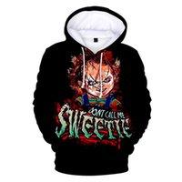 Men's Hoodies & Sweatshirts 2 To 16 Years Old Kids Hoodie The Evil Good Guys Toys Men Women Halloween Chucky 3D Sweatshirt Funny Streetwear