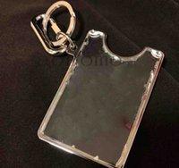 Support d'identifiant de qualité supérieure Mode Clear PVC Mono Gram Carte Portefeuille Porte-clés Prism transparent avec Bo K1em #