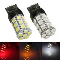 T20 7440 W21 / 5W LED Car Acres 7443 5050 27-SMD Bulbos Branco Vermelho Amarelo Auto LED Traseira Estacionamento Parque de Parada 12V