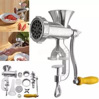 Manual Meat Grinder 304 Stainless SteelSausage Filler Filling Machine Pork Beef Chicken Rack With Two Enema Mouths For Kitchen