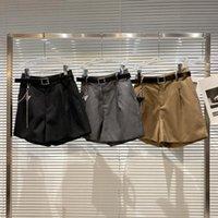 Women's Shorts Belt Metal Chain Women 2021 Autumn Fashion Design Small Trousers