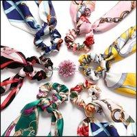 Bijoux bijoux bijoux de bijoux barrettes mode créatif rétro classique d'impression toujours changeant imitation bandeau de soie chaîne anneau goutte drop del