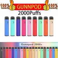 Cigarrillos electrónicos originales GunnPod Desechable E-cigarrillos Dispositivo Kit 2000 Puffs PRELELADO 8ML POD STICK VAPE PEN