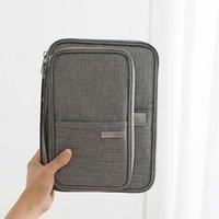 Sacs de stockage Voyage Portable Passport Carte Billets Billets de portefeuille Organisateur Zipper Titulaire de la Pochette imperméable