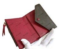 Mulheres Bolsa Curta Carteira Hasp Dobrável Couro Genuíno Bolsa Original Número de Serial Bolsa Carteiras Suportes Bag_Shop888 0