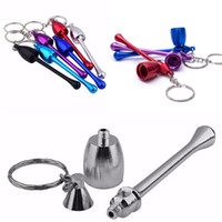 Hot sale Outdoor Portable Smoke Pipe Keychain Aluminum Alloy...