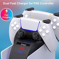 Game Controllers & Joysticks Dual Fast Charging For PS5 Wireless Controller Dock Station Joystick Gamepads Accessories