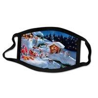 Мода Рождественские маски Унисекс Xmas Mask Открытый Анти пыль Крышка Лицо Снежинки Рождественские Маски для рта 62 Стили