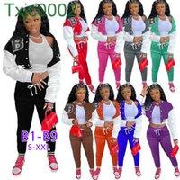Kadın Eşofman İki Parçalı Set Tasarımcı Güz Kış Beyzbol Üniforma Ceketler Sweatpants Kıyafetler Sweatsuits Joggers Pantolon 18 Stil Takımları