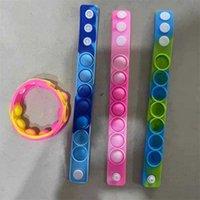 Giocattoli da barretta Push Bubble Bracciali in silicone Keepsakes Decompressione Fidget Pop Toy Bracciale Braccialetto Puzzle Stress Stress Sensory Sensory 91 H1