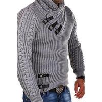 Maglioni da uomo 2021 primavera inverno moda in pelle fibbia maglione uomo misto in lana maglieria calda maglieria classica pullover in maglia maglia jumper NX1780