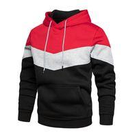 Men's Hoodies & Sweatshirts 2021 Autumn Winter Men High Quality Patchwork Hoodie Long Sleeve Fashion Pullover Harajuku Tracksuit Top