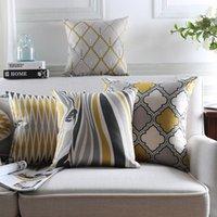 Cuscino in stile scandinavo Cover per la casa Decor Geometrica Cuscino Decorativo Copriscamere Zebra Tiro cuscini Casi Giallo Grey Fodera