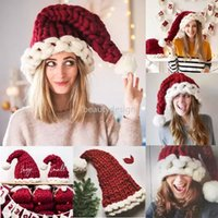 3 styles Wool Knit Hats for Adult Child Christmas Hat Fashion Home Outdoor Autumn Winter Warm Cap Xmas Gift DD